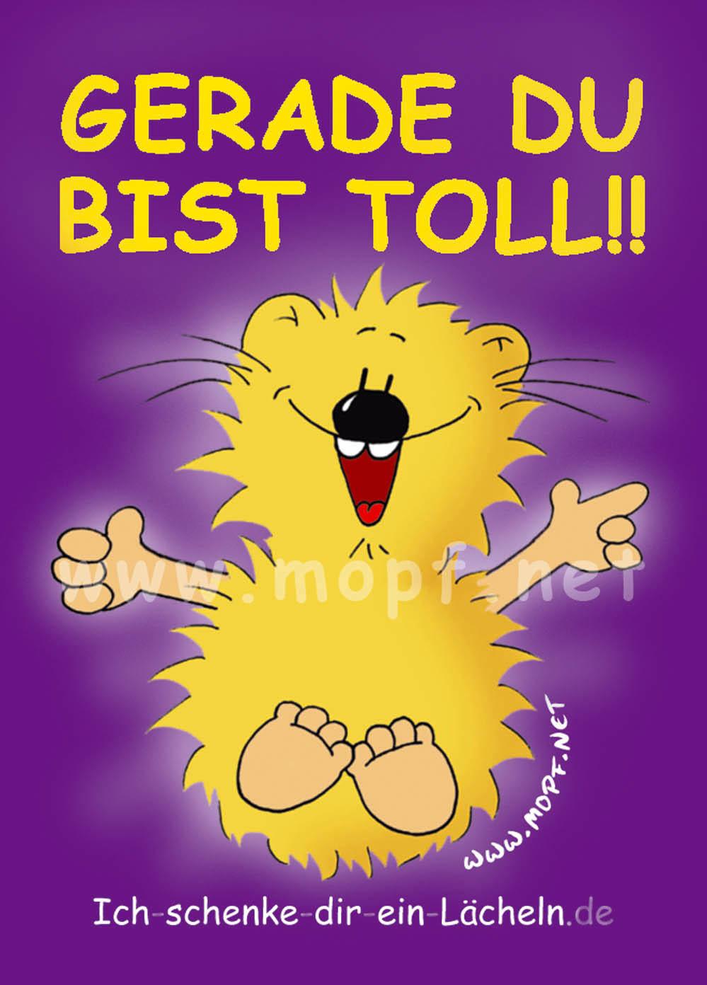 Aufkleberm GERADE DU BIST TOLL! | Mopf-der Blog